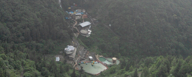 Mussoorie view from the top of the hill