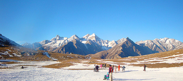 Snow Point at Rohtang Pass