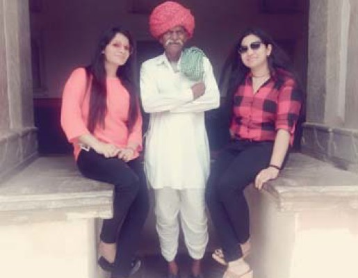 With Local Rajasthani