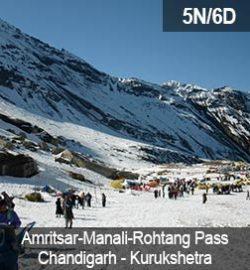 amritsar—manali—rohtang-pass—chandigarh—kurukshetra